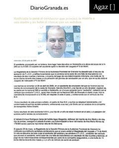 Diario Granada - Ratificada la pena al conductor que provocó la muerte a una madre y su bebé al chocar con un autobús