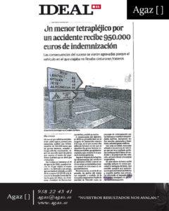 Ideal - Un menor tetrapléjico por un accidente recibe 950.000 euros de indemnización
