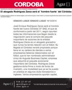 Diario de Córdoba - El abogado Rodríguez Zarza será el
