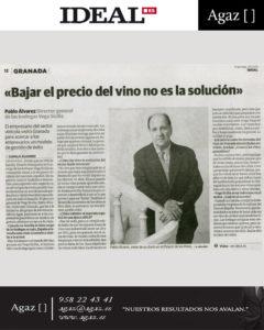 """Ideal - """"Bajar el precio del vino no es la solución"""""""