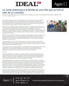 Ideal - La Junta indemniza a la familia de una niña que se hirió al caer de un columpio