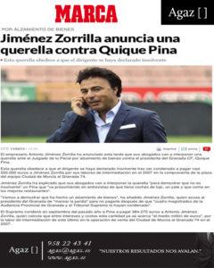 MARCA - Jiménez Zorrilla anuncia una querella contra Quique Pina