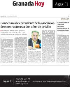 Granada Hoy - Condenan al ex presidente de la asociación de constructores a dos años de prisión