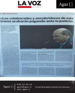 """La Voz de Cádiz - """"Los colaboradores y encubridores de esta trama acabarán pagando ante la justicia"""""""