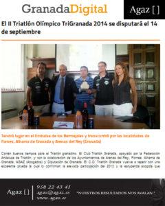 Granada Digital - El II Triatlón Olímpico TriGranada 2014 se disputará el 14 de septiembre