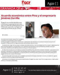 Granada CF - Acuerdo económico entre Pina y el empresario Jiménez Zorrilla